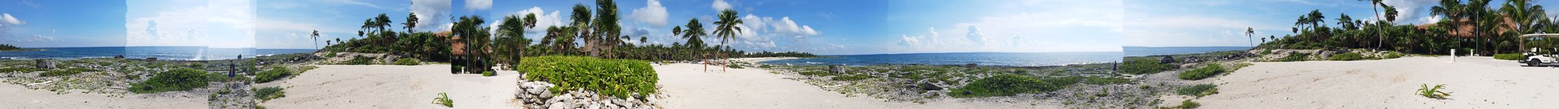 Cancun panorama royalty free stock images