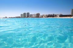 cancun plażowy widok karaibski turkusowy zdjęcie stock