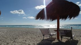 Cancun plaży widok Fotografia Stock