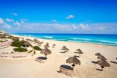 Cancun Playa Delfines beach Riviera Maya Royalty Free Stock Photos