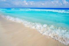 Cancun Playa Delfines beach Riviera Maya Stock Image