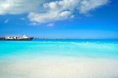 Cancun Playa Langostas beach in Mexico royalty free stock photos
