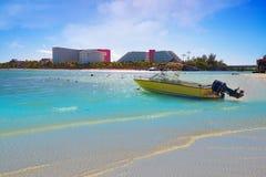 Cancun Playa Linda beach in Hotel Zone stock photos