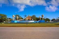 Cancun PlazaCeviche fyrkant i Mexico arkivbild