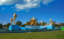 Cancun PlazaCeviche fyrkant i Mexico arkivfoto