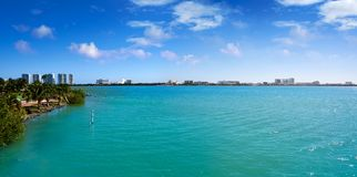 Cancun Pok-Ta-Pok area in Hotel Zone. At Nichupte Lagoon of Mexico stock photography
