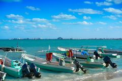Cancun Puerto Juarez in Caribbean Mexico. Cancun Puerto Juarez in Caribbean sea of Mexico Royalty Free Stock Image