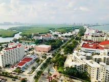 Cancun, Quintana Roo Meksyk krajobraz od Xcaret wierza fotografia stock
