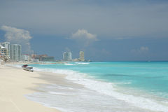 Cancun sceniczny plaży Fotografia Stock
