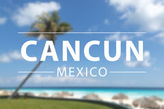 Cancun sign. Caribbean beach , cancun sign in mexico Royalty Free Stock Photos