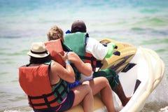 Cancun, ski de jet du Mexique Photo libre de droits