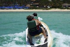 Cancun, ski de jet du Mexique Photos libres de droits