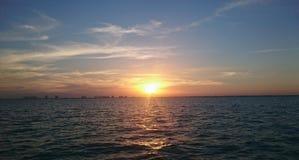 Cancun-Sonnenuntergang Stockfoto