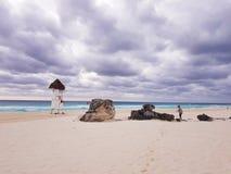 Cancun strand Arkivbild