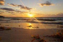 Cancun strand Royaltyfria Foton
