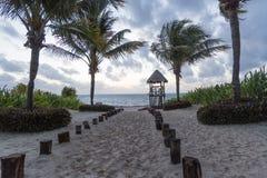 Cancun strand Royaltyfri Bild