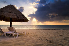 Cancun Sunrise Stock Photography