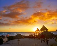 Free Cancun Sunrise At Delfines Beach Mexico Royalty Free Stock Photo - 102600755