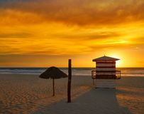 Free Cancun Sunrise At Delfines Beach Mexico Royalty Free Stock Photography - 102600927