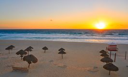 Free Cancun Sunrise At Delfines Beach Mexico Royalty Free Stock Photos - 102601328