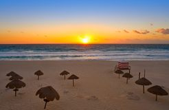 Free Cancun Sunrise At Delfines Beach Mexico Stock Image - 102601501