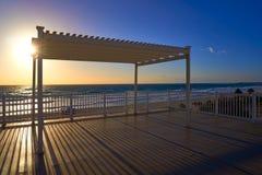 Cancun sunrise at Delfines Beach Mexico Stock Photo