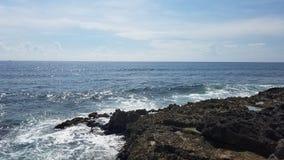 Cancun vågor arkivbild