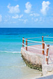 Cancun vacations sea. Pier in cancun blue sea Stock Photos