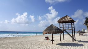 Cancun White Sand Beach, Mexico Stock Photos
