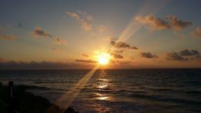 Cancun wschód słońca Obrazy Royalty Free