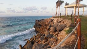 Cancunkustlijn Royalty-vrije Stock Afbeeldingen