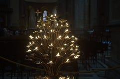 Candélabre dans la cathédrale de Florence photographie stock
