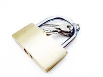 Candado con claves foto de archivo libre de regalías