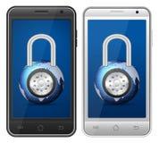 Candado de Smartphone stock de ilustración
