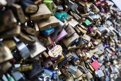 Candado del amor Foto de archivo libre de regalías
