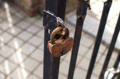 Candado oxidado Fotografía de archivo