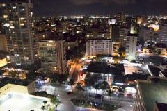 Candado Puerto Rico på natten Fotografering för Bildbyråer