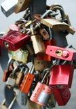 Candados del amor Imágenes de archivo libres de regalías