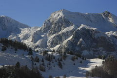 Candanchú, идти снег горы, Пиренеи Стоковое фото RF