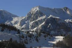 Candanchú, montagne nevicate, Pirenei Fotografia Stock Libera da Diritti