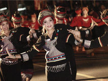 Canddle节日的泰国舞蹈演员 免版税库存图片