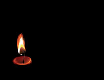 Cande. Background, lining, wall-papers with the image of a burning candle Royalty Free Stock Photo