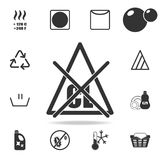 candeggiante senza icona del cloro Insieme dettagliato delle icone della lavanderia Progettazione grafica di qualità premio Una d Immagine Stock Libera da Diritti