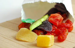 Candeid fruis. Food and diet concept Royalty Free Stock Photography