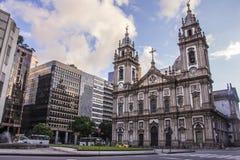 Candelária Church - Rio de Janeiro. The Candelária Church (Portuguese: Igreja da Candelária) is an important historical Roman Catholic church in the royalty free stock image