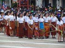 Candel Festival 2015, SURIN THAILAND Royaltyfri Fotografi