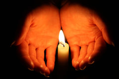 Candel Flamme Lizenzfreies Stockbild