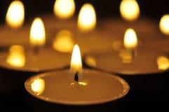 Candel-licht Royalty-vrije Stock Afbeeldingen