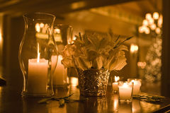 Candel Light. Candle light,Wedding candle,light, rose,flame Royalty Free Stock Photos