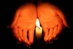 candel płomień Obraz Royalty Free